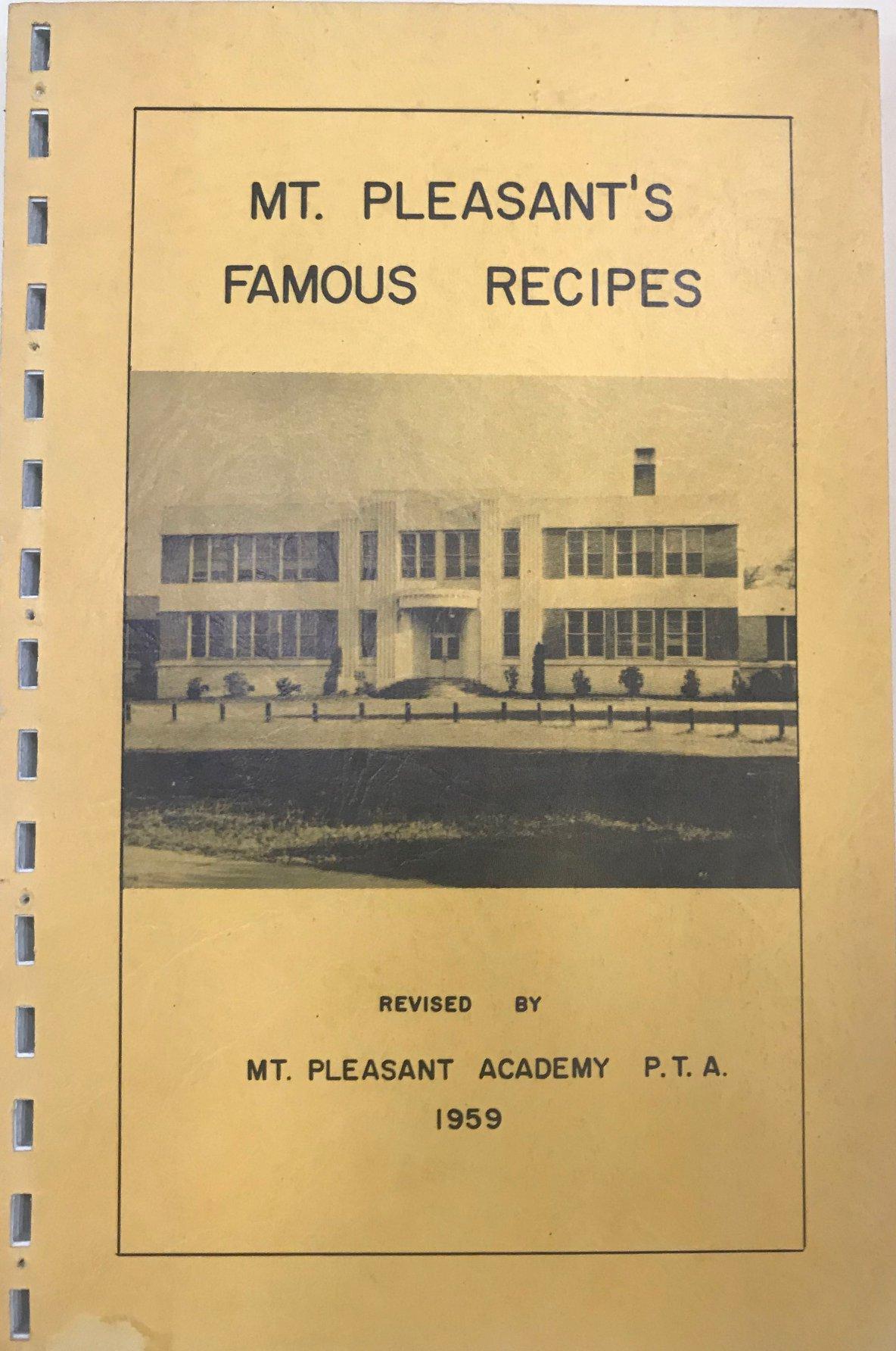 MT. Pleasant's Famous Recipes 1959