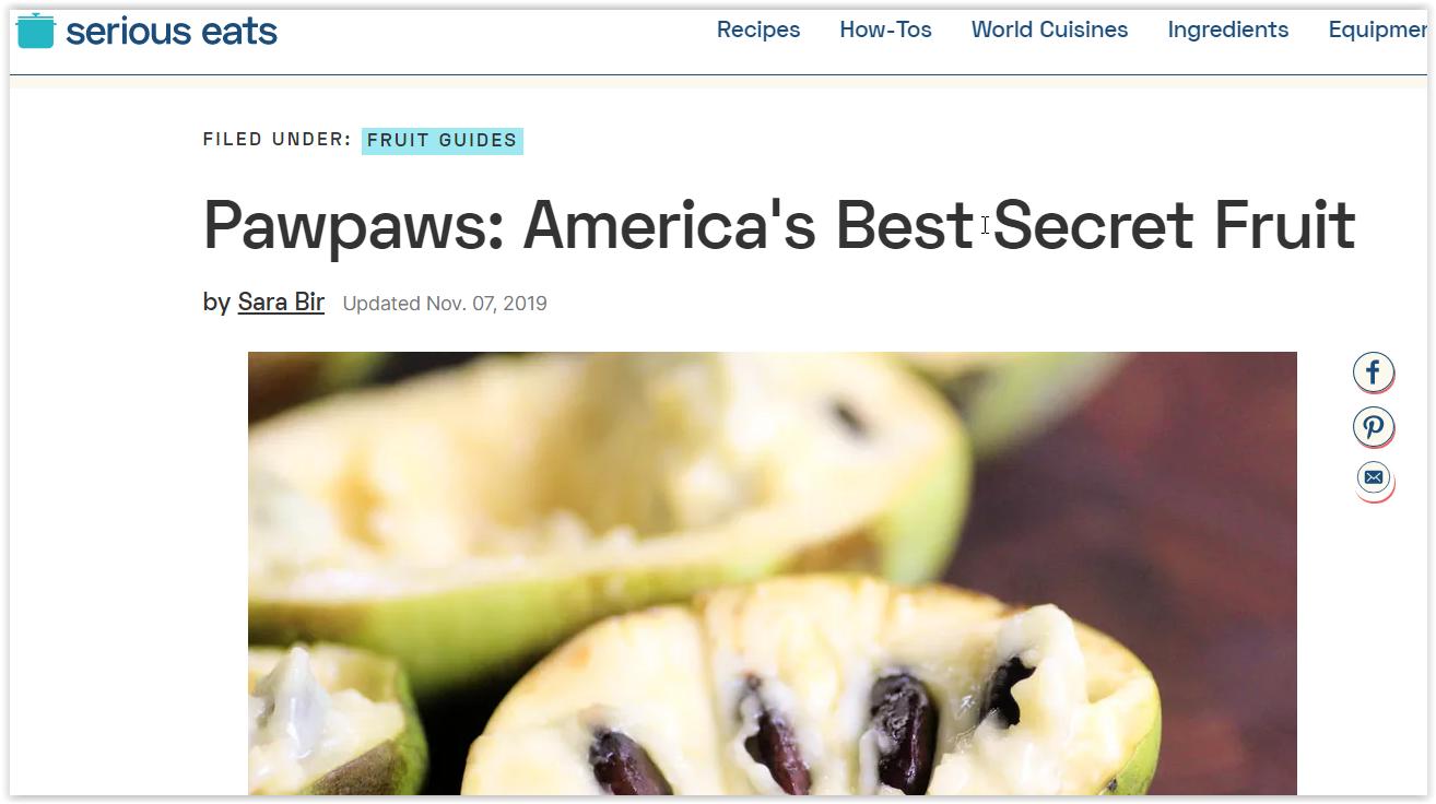Papa, what's a PawPaw fruit?